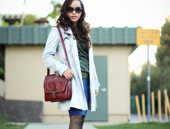 pinterest/instagram- @pslilyboutique, LA fashion blogger, my style, top fashion blogger, street fashion, skirt, trench coat, hair, sunglasses, bag