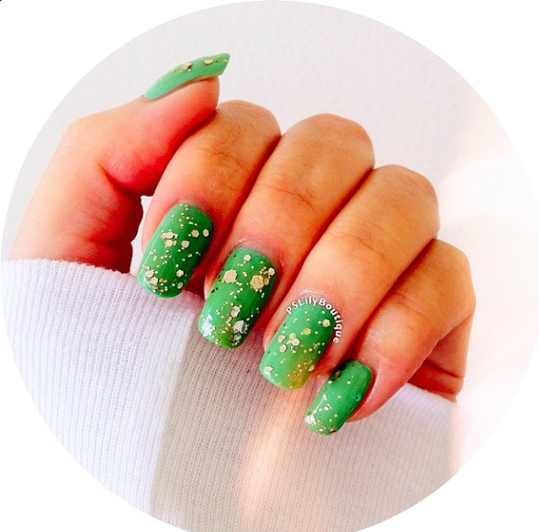 nails, nail art, green