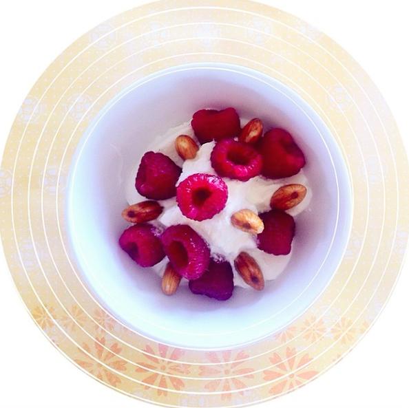 Homemade fruit yogurt nut parfait