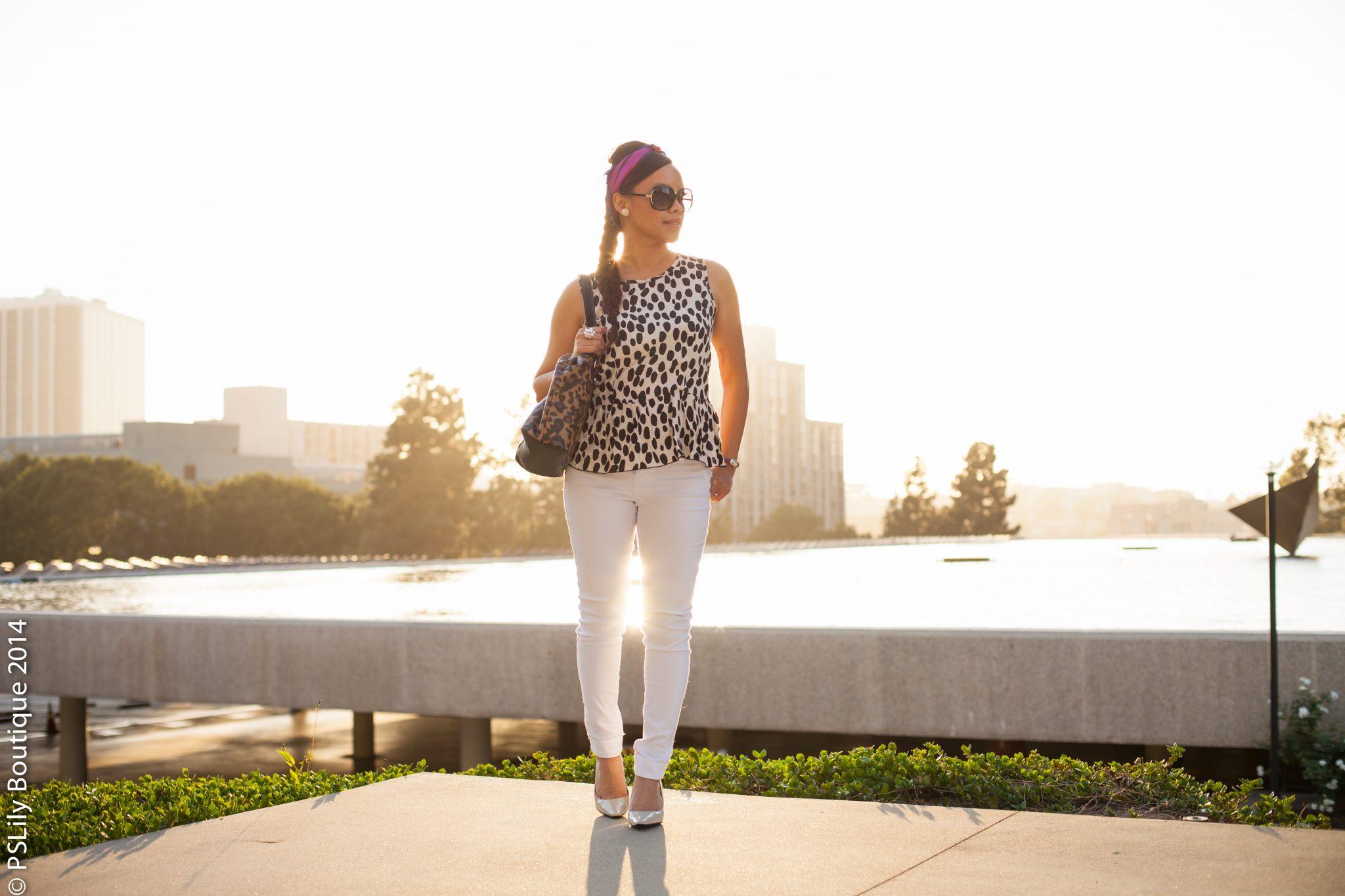instagram-pslilyboutique, LA fashion blogger, best fashion blogger, white skinny jeans, h&m leopard print top, calvin klein pumps, street fashion, spring outfit ideas