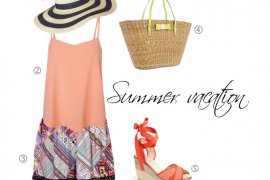 instagram-pslilyboutique, LA fashion blogger, summer, vacation, outfit ideas, kate spade bag, topshop, target hat, vero moda top, topshop aztec print shorts, sarah jessica parker sandals