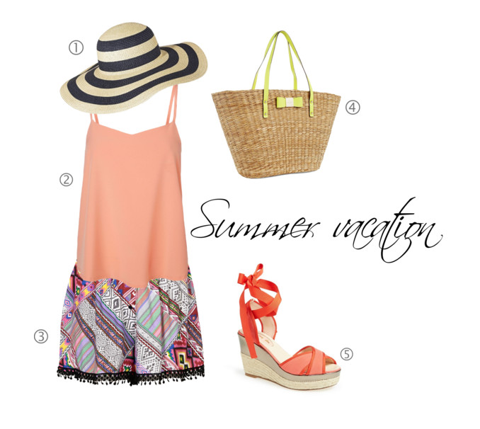 instagram-pslilyboutique, LA fashion blogger, summer, vacation, outfit ideas, kate spade bag, topshop, target hat, vero moda top, topshop aztec print shorts, sarah jessica parker sandals