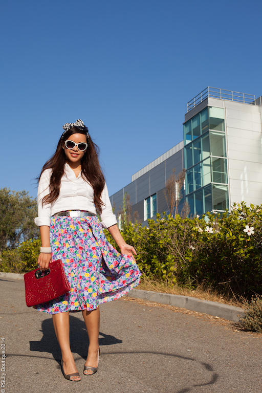 instagram-pslilyboutique, LA fashion blogger, midi skirt, floral, street fashion, best fashion blogger