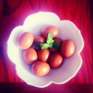 I could have my tea eggs for breakfast all day,…