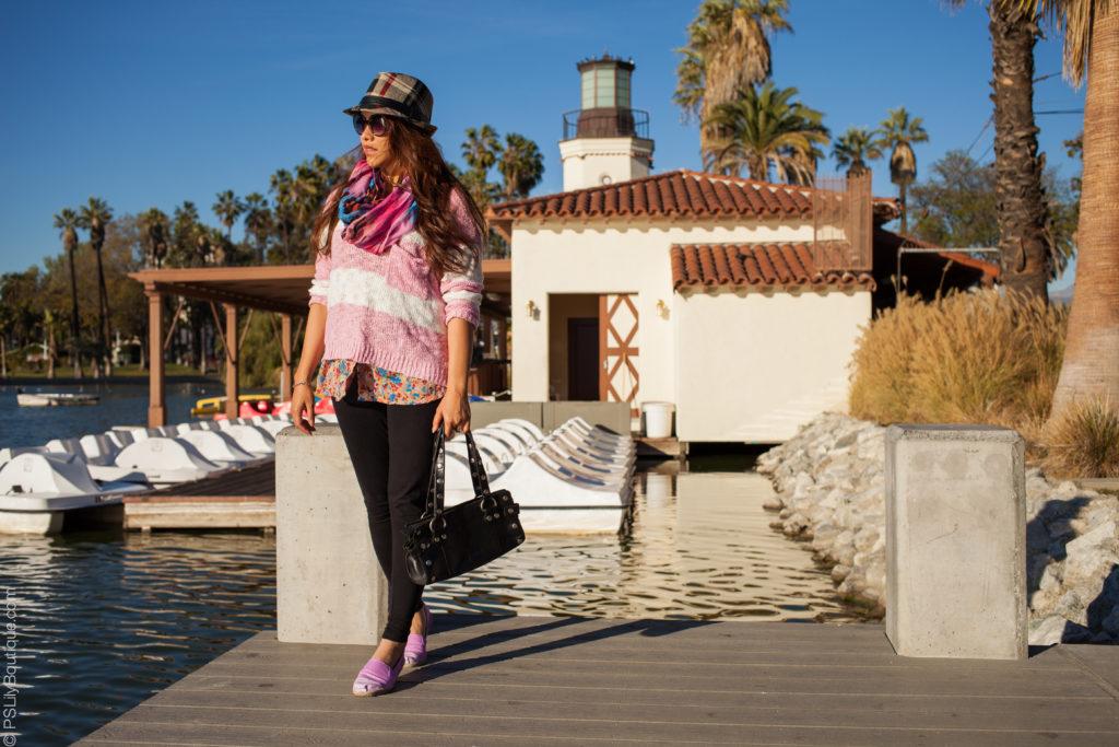 Instagram: @pslilyboutique- LA-fashion-blogger-blog-plaid black grey fedora hat, outfit blog post