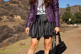 Instagram @pslilyboutique-la-fashion-blogger-blog-wet-seal-black-pleated-skirt