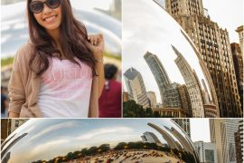 Instagram: @pslilyboutique-la-fashion-blogger-blog-white-and-pink-graphic-soft-aerie-american-eagle-tee-shirt-the-bean-millennium-park-chicago