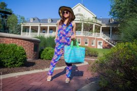 instagram-pslilyboutique-los-angeles-target-xhilaration-tropical-palm-teal-coral-electric-blue-jumpsuit