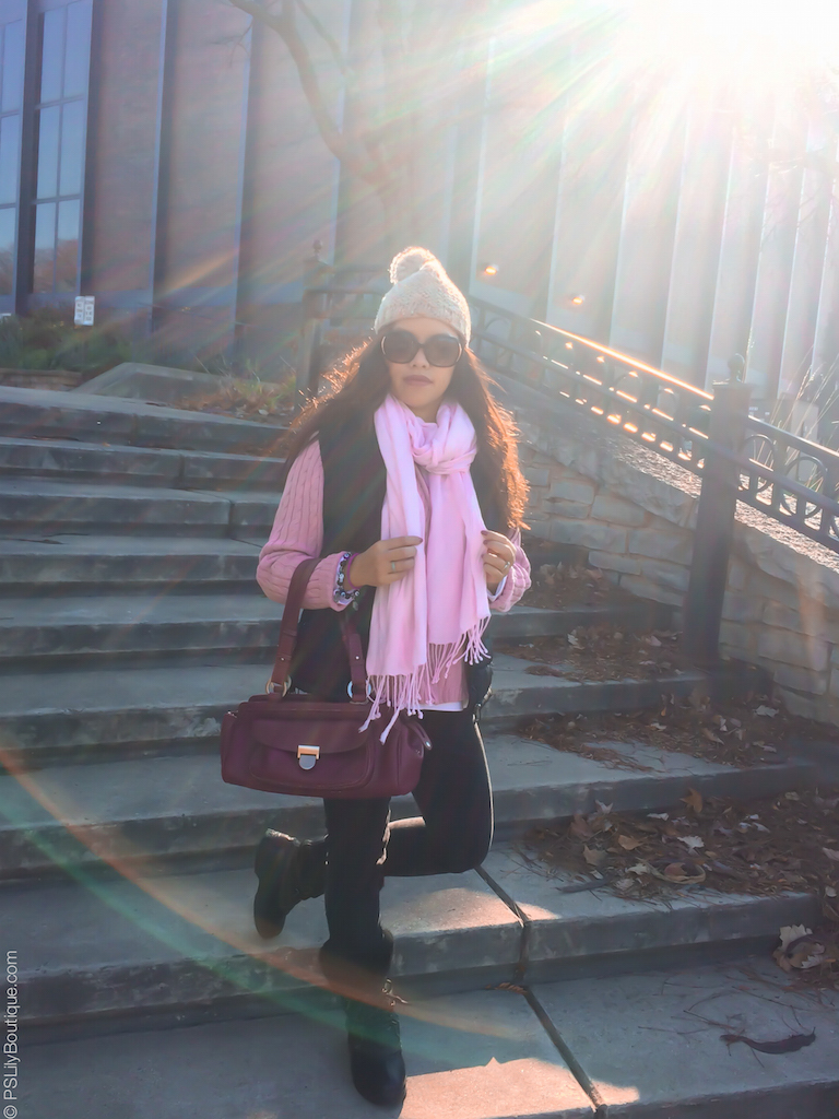 instagram-pslilyboutique-best-fashion-blog-pink-knit-sweater-wiw-ootd-fall-2016-outfit-ideas-forever-21-beige-pom-pom-hat-11-17-16