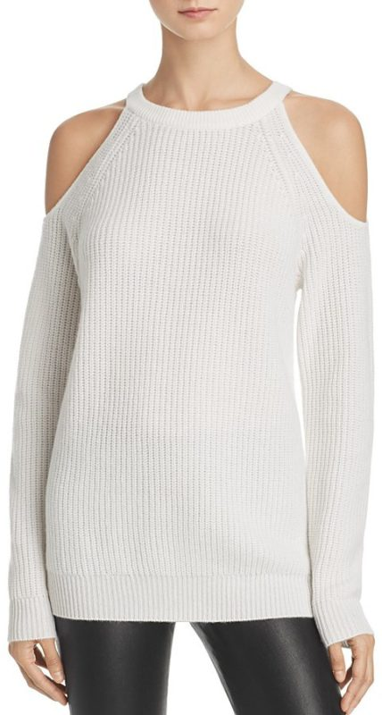 Cashmere Chunky Cold-Shoulder Sweater – 100% Exclusive