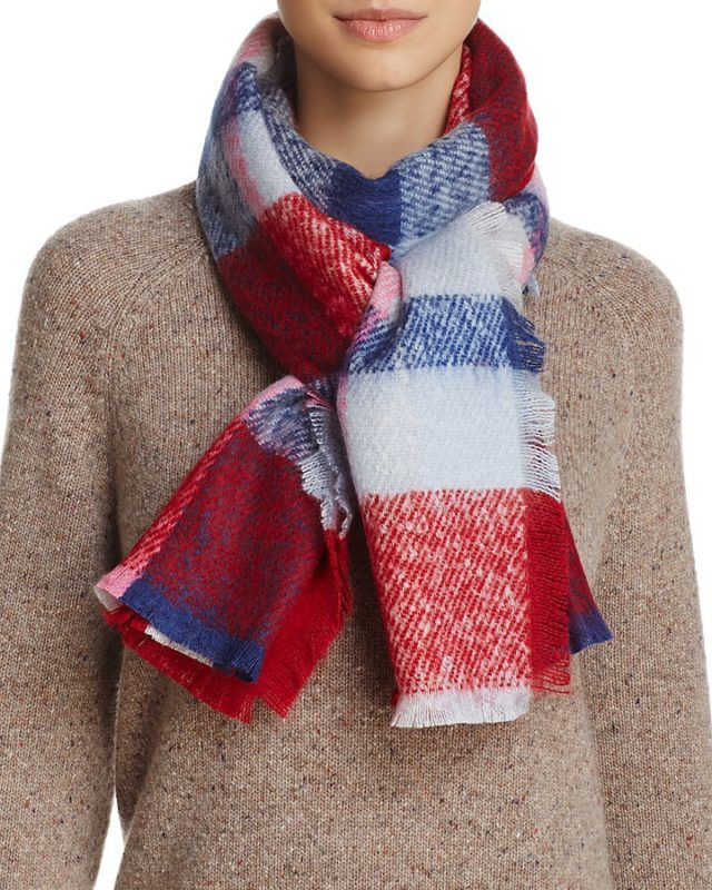 Boucle Multi Plaid Scarf – 100% Exclusive