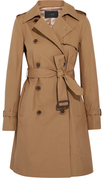 Cotton-canvas Trench Coat – Camel