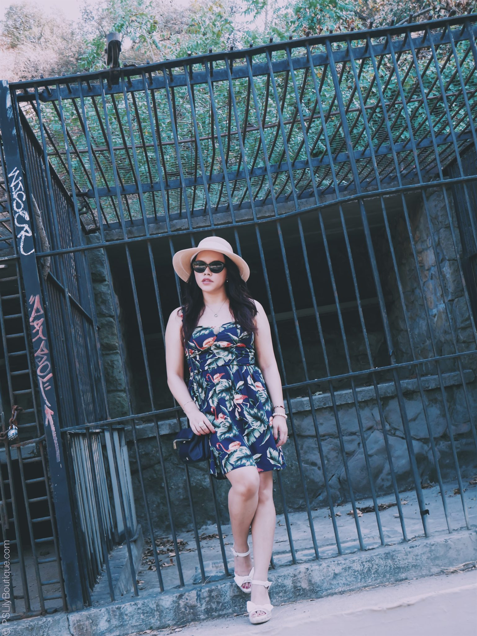 Extra Tropical... | PSLily Boutique - A Fashion & Personal Style Blog. Instagram: @pslilyboutique, Pinterest, Los Angeles fashion blogger, top fashion blog, best fashion blog, fashion & personal style blog, travel blog, travel blogger, LA fashion blogger, Spring & Summer 2018 Outfit Ideas, Navy Blue Palm Print & Flamingo Sun Dress, Travel Outfit, OOTD, 8.15.18