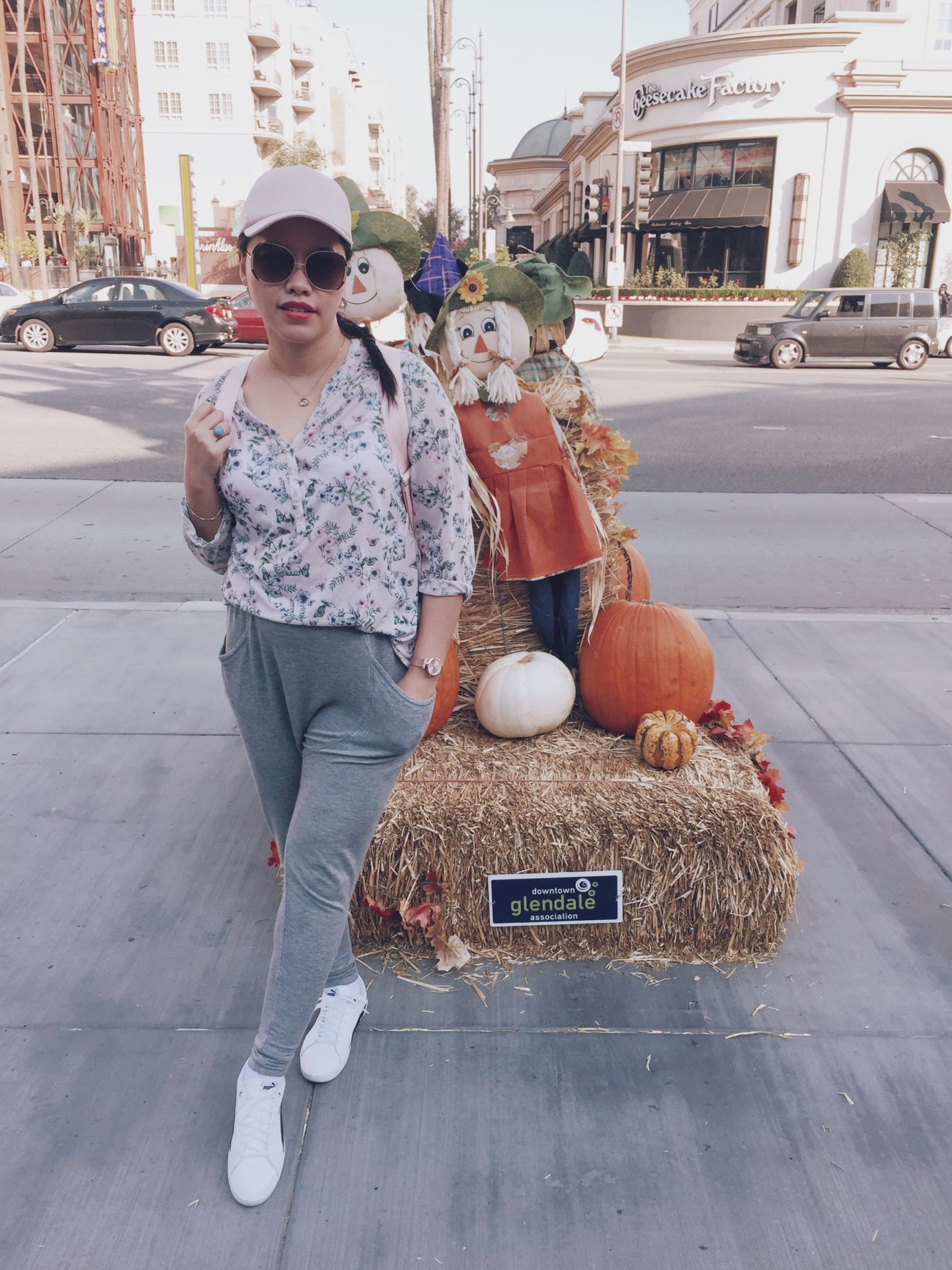 Cheesecake Factory, Downtown Glendale, California, Instagram: @pslilyboutique, Pinterest, Los Angeles fashion blogger, top fashion blog, best fashion blog, fashion & personal style blog, travel blog, travel blogger, LA fashion blogger, Fall 2018 Decor, Fall & Winter 2018 Outfit Ideas, Pumpkins, Glendale Galleria Mall, What is my style, Travel Outfit Ideas 2018, Puma Backpack