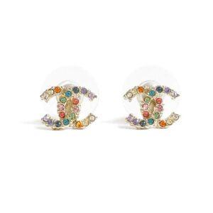 Chanel CC Multicolour Crystal Earrings