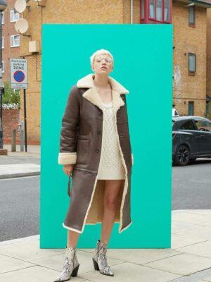 Instantfunk Reversible Long Shearing Coat