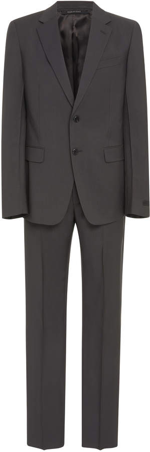 Prada Notched Lapel Wool And Mohair-Blend Suit