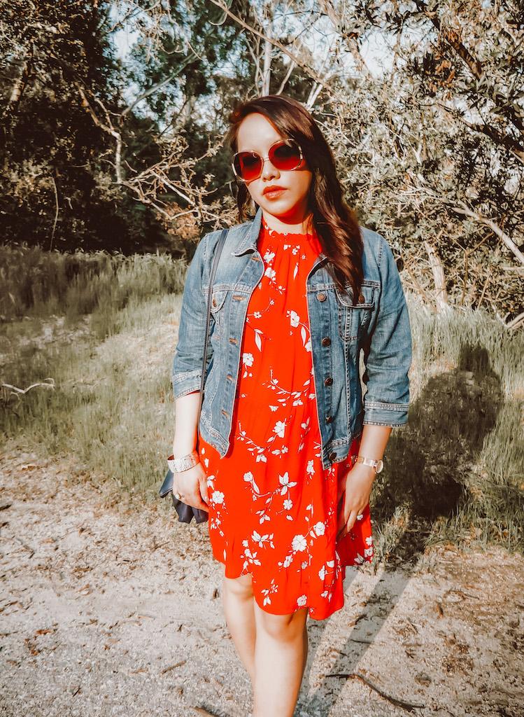 H M Ruffle Floral Dress